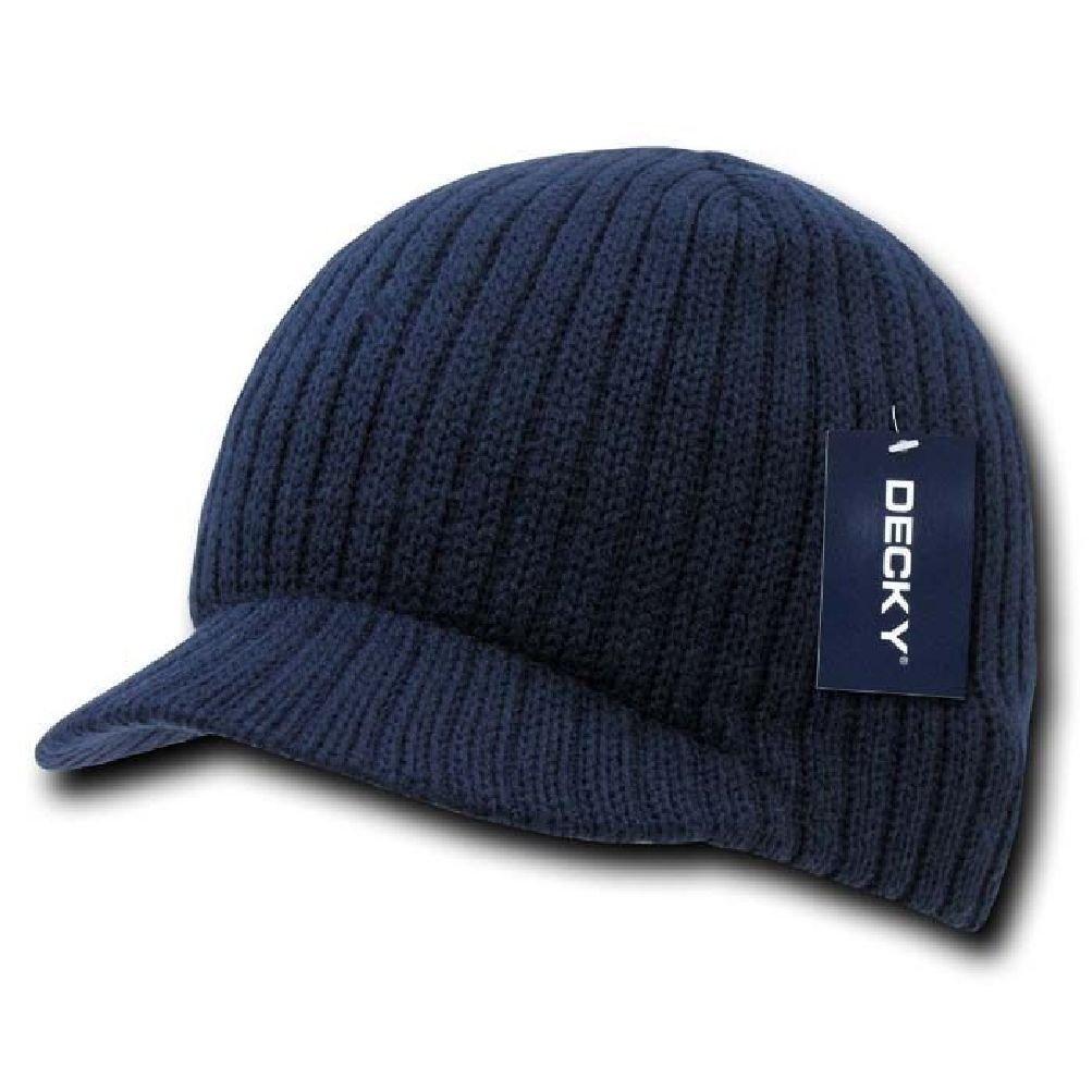 e5abb9a88b211 Get Quotations · New Navy Blue Campus Visor Beanie Jeep Cap Hat Caps Hats