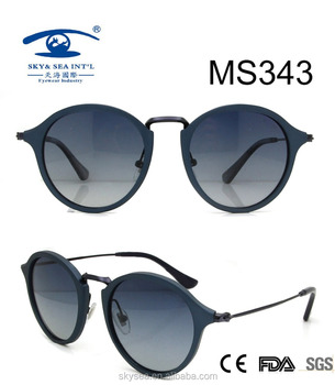 2017 Collection High Quality Round Simple Metal Sunlgasses,Polarized