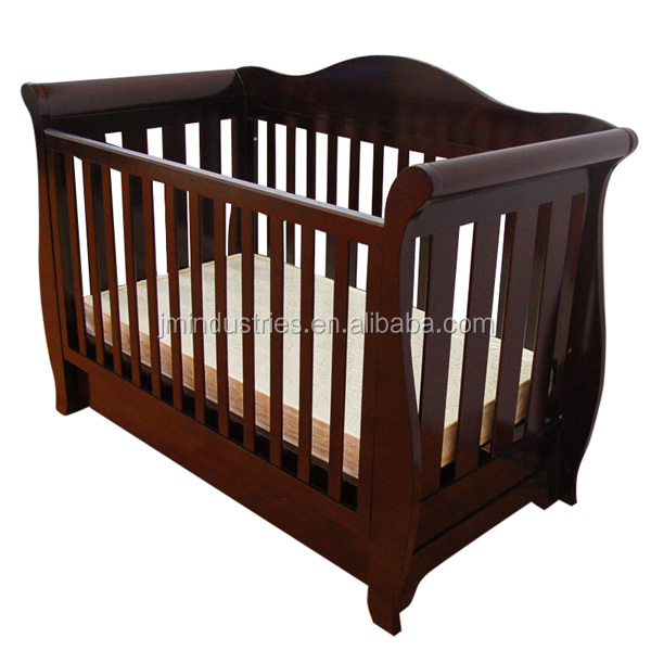wooden baby cot/baby crib with storage drawer