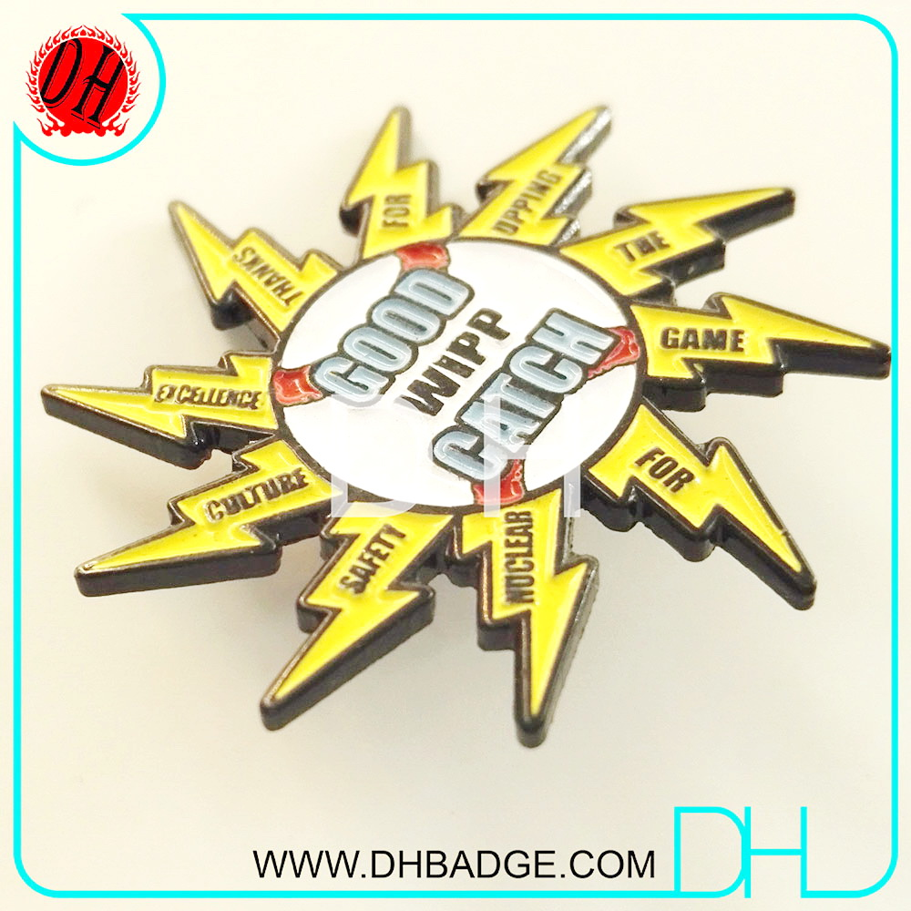 Manufacturer Sunflower Catch Baseball Softball Hocky Sports Enamel Pin
