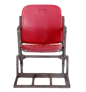 Cheap Fixed on Floor Tip up Stadium Seats with Soft Cushion Soccer Field Sport Stadium Plastic Chairs P2