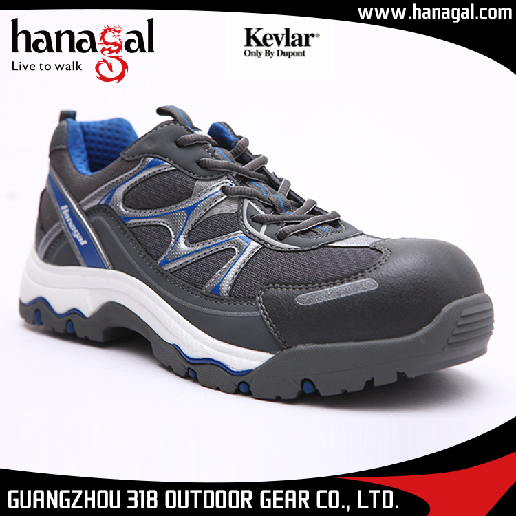 Breathable shoes Rubber Grey Fashionable safety NEW resistant Oil sole Mesh steel Dark Industrial toe w1tcqf