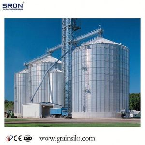 1000Ton Flat Bottom Steel Grain Silo For Storage