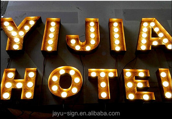 led light up antique metal marquee letters for shop and wedding decoration buy marquee lettersantique marquee lettersled light up marquee letters