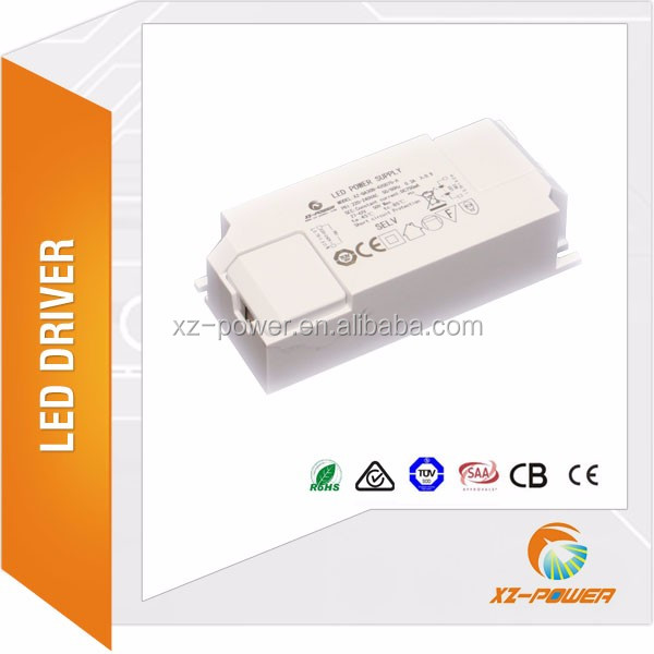 tc 85 degree flicker free 42w to 60W DC 30V-40V 1050ma-1500ma hight voltage external led driver