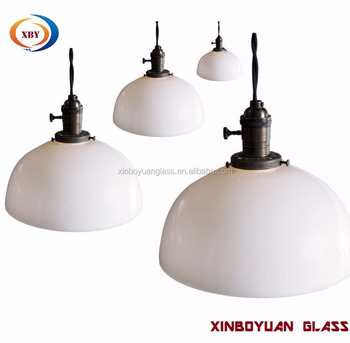 Opal White Bowl Glass Lamp Shade For Hanging Light Buy Perforated Lamp Shades Terracotta Lamp Shade Bowl Hanging Light Shades Product On Alibaba Com
