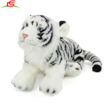 Chinese Wholesale Stuffed Animal Big Eyes White Tiger Plush Toy