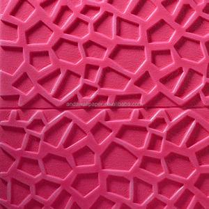 scarlet red zigzag pattern Warm Color 3d Brick Pe/ Eva Foam Wallpaper 3d  Brick Wall Panels