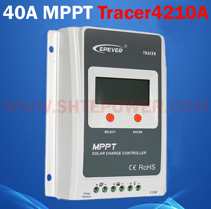 Tracer 4210A max pv input 100v mppt solar <strong>charge</strong> <strong>controller</strong> 12v 24v 40amp
