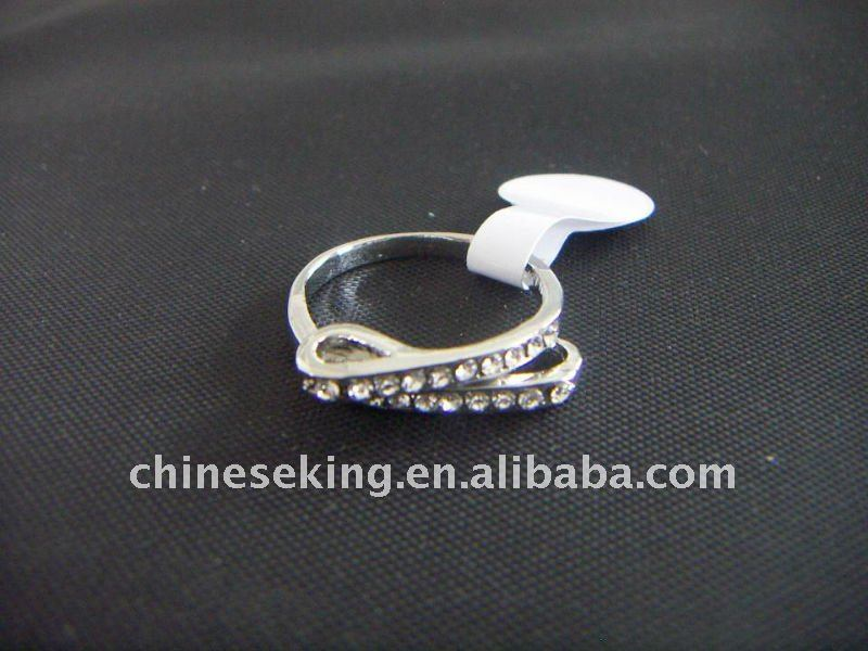 fashion rinestone finger rings on sale, 0.5US$ per piece only