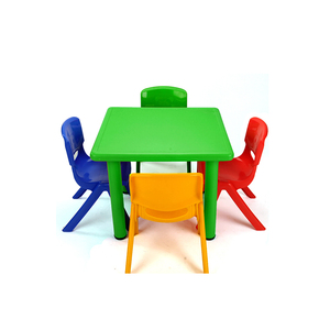 best selling preschool green kids plastic study table and chair