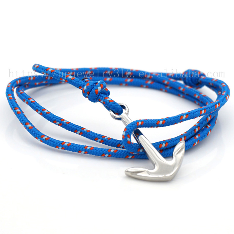 5% DISCOUNT Mens Anchor Rope Paracord Men Anchor Bracelet HPYL2837