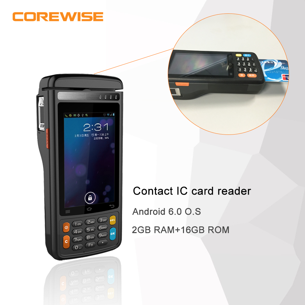 Android 6.0 4 inch 4G LTE wifi MSR Contact IC card reader pos terminal/system
