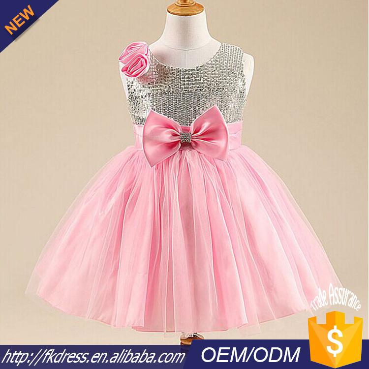 Venta al por mayor rosa vestidos de flores niña-Compre online los ...
