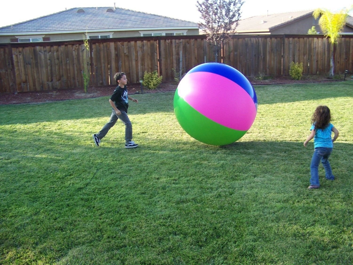 """40""""(3 1/3 Ft.) Tall Inflatable Large Beach Ball Party Fun, Monster Ball."""