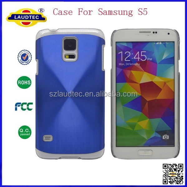 2015 Hot Selling Aluminum CD Deflector Shiny Case,Hard Case for Samsung Galaxy S5 Laudtec