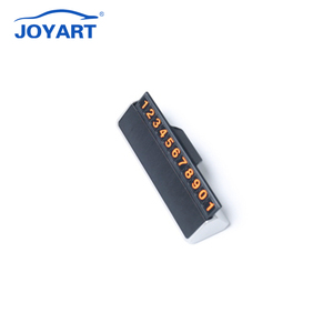 Auto interior accessories hidden Temporary Car Mobile Phone Number parking Card Plate