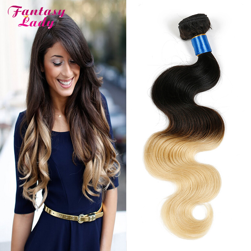 blonde ombre human hair extensions cheveux naturel bresilienne brizilian virgin hair 100 human. Black Bedroom Furniture Sets. Home Design Ideas