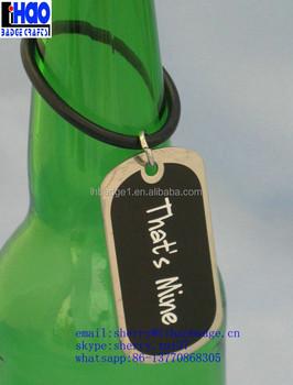 Custom Beer Bottle Neck Tag Metal Bottle Hang Tag Beer