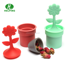 gift set silicone tea filter with drip tree shape tea infuser tea strainer novelty gift
