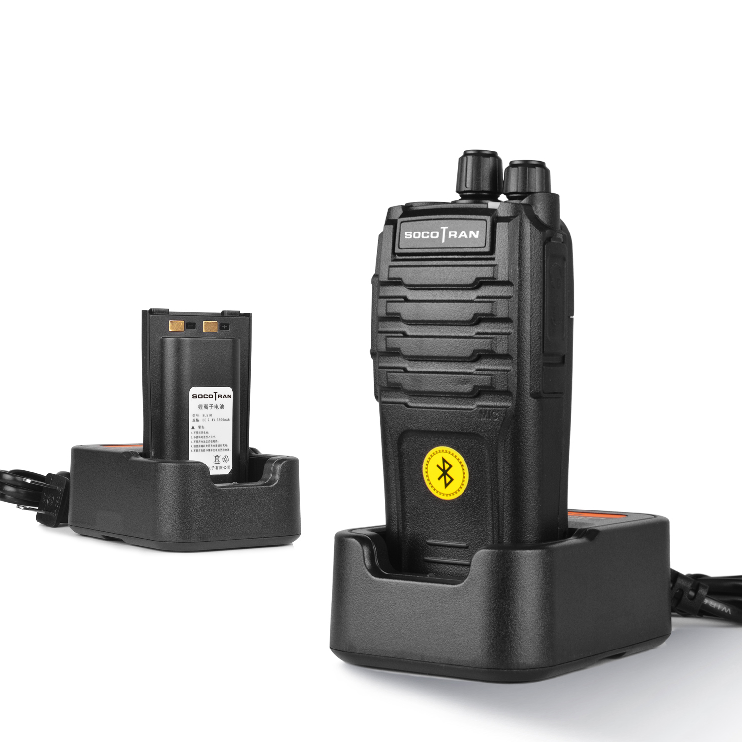 Bluetooth Walkie Talkie 5W UHF 400-480MHz Built-in Bluetooth