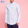 Oxford Cotton Men's Shirt Styles Patterns With Long Sleeves Curved Hem And A Button Down Collar