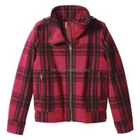 Blazer Women Jackets Long Sleeve Plaid Flannel Warm Shirt Fleece Lined Blouse Up Winnter Jacket Coat For Women