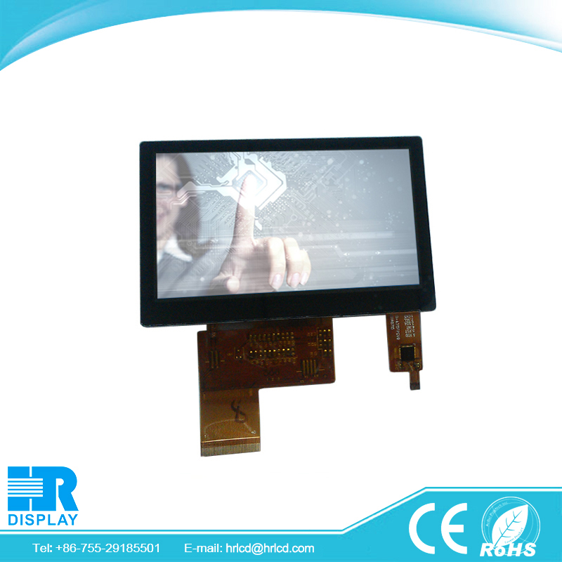 IPS lcd panel 4.3 inch 480x272 with capacitive touch replacement lcd screen gps