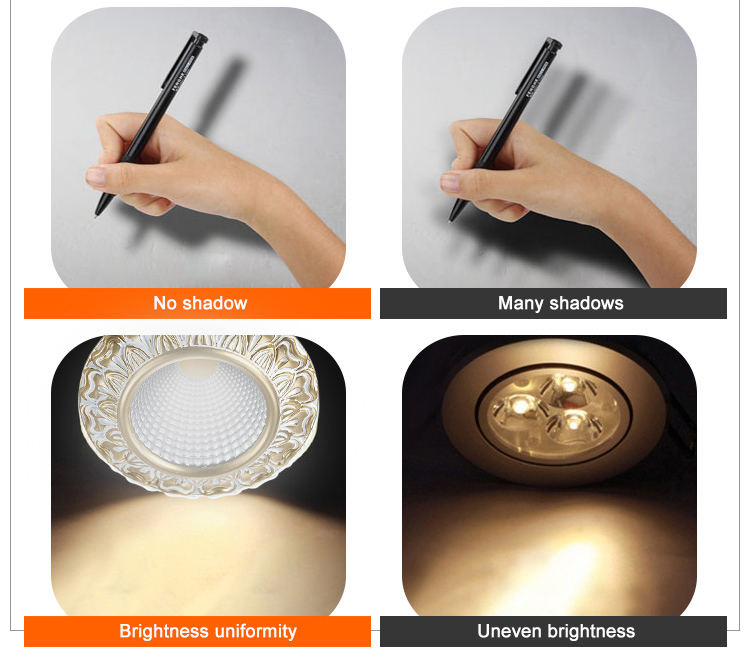 commercial illumination bathroom led downlights round white milky for customization-12