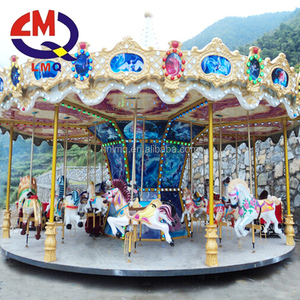 Kids attractive 2017 new horse toy carousel for children