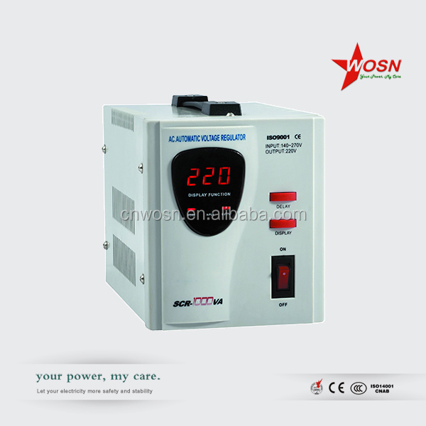 1000VA SCR Series 140-260V Automatic Relay Voltage Stabilizer