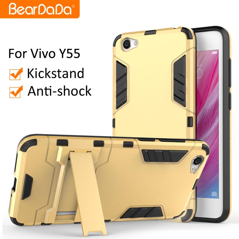 new concept 82676 a4c2b Linh Hoạt Giá Anti Sốc Chân Đế Tpu Pc Back Cover Case Cho Vivo Y55 - Buy  Cover Quay Lại Trường Hợp Đối Với Vivo Y55 Product on ...