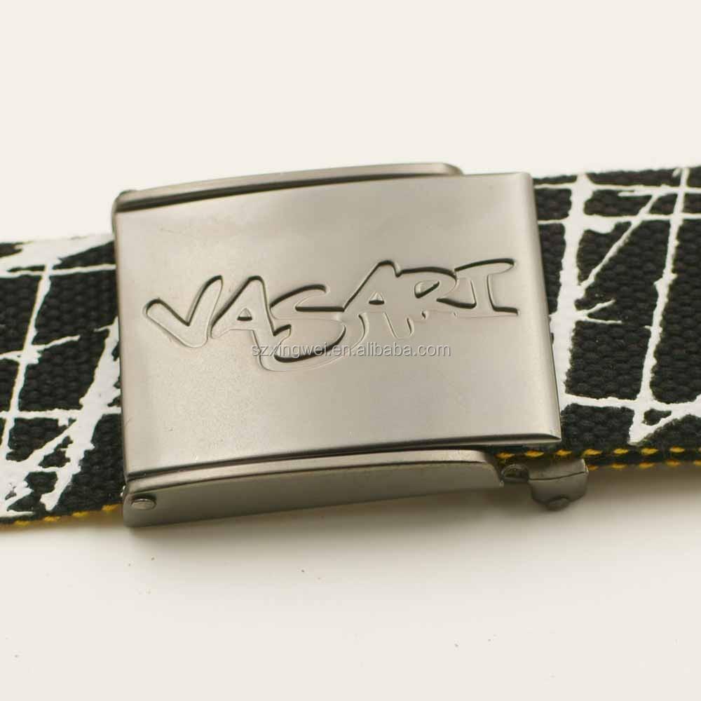 Personnalisé Imprimé Coton web ceinture avec boucle en métal pour hommes 3edbfa6543c
