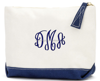 monogram canvas zipper clutches makeup bag wholesale
