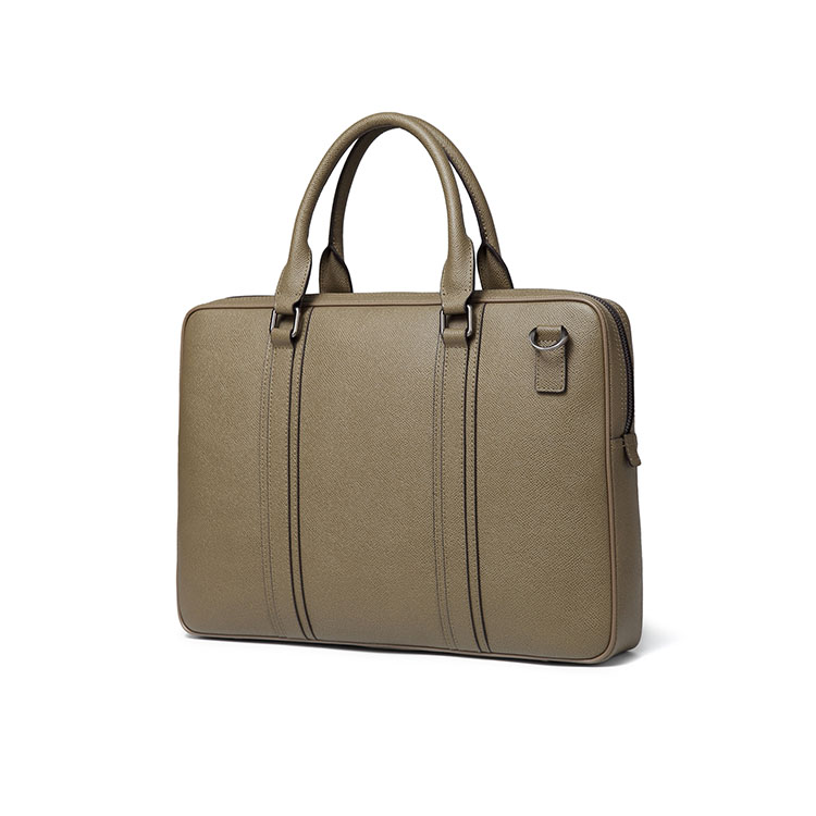 Vintage Business Laptop Work Bag Men Genuine Leather Classic Small Doents Briefcase Bags