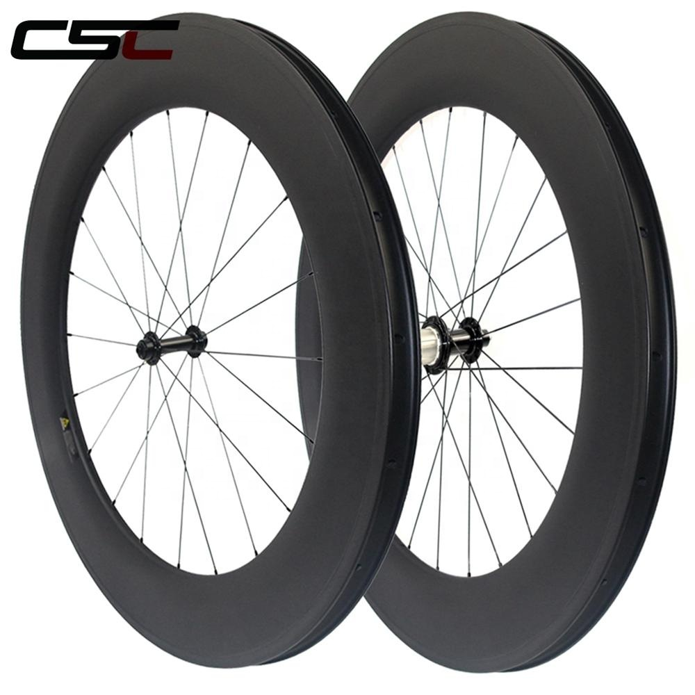 Carbon 700c Cycling bicycle racing wheels 24 38 50 60 88mm Depth Clincher Road bike wheels with R13 hub Wheelset free shipping