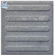 China factory manufacturer Ceramic Gray color paving stones guiding blind tactile warning tiles