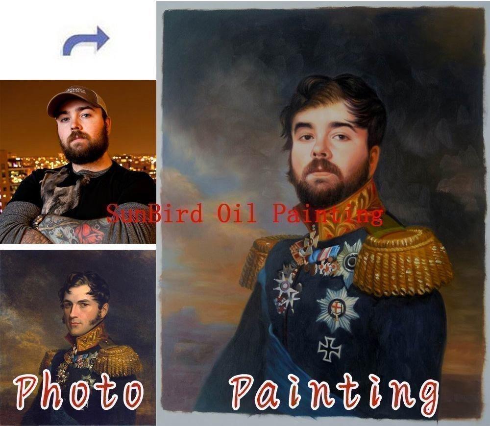 Get Quotations Oil Painting Custom Portrait Paint Your Face Onto Famous Original