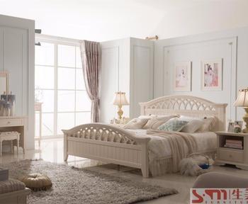 シンプルなデザイン大人のベッドルームセット家具販売のための白い色
