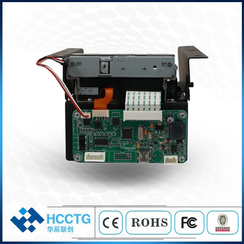 RS232 USB 58MM Embedded Auto Cutter Kiosk Thermal Printer HCC-EU58III