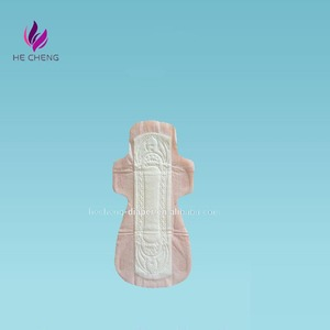 China made soft comfortable female cotton disposable sanitary napkin