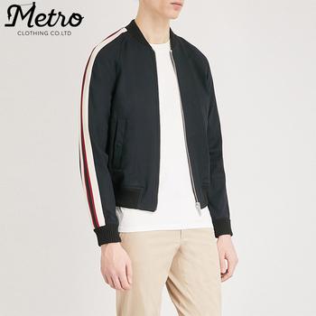 def8f0e01 Custom Mens Activewear Side Stripe Sleeves Track Bomber Jackets - Buy Mens  Custom Track Jackets,Mens Activewear Bomber Jackerts,Mens Bomber Jackets ...