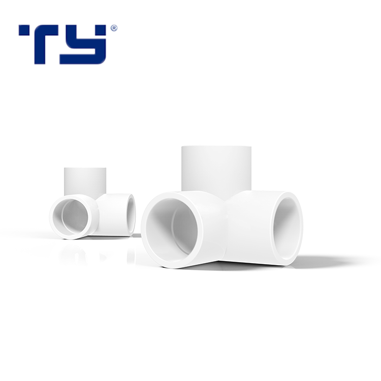 """1/2""""-3/4"""" 3 Way Side Outlet Elbow PVC Pipe Fittings"""