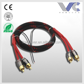 New Developed 2-male To 2-male Rca Audio Cable With Ground Wire Made ...