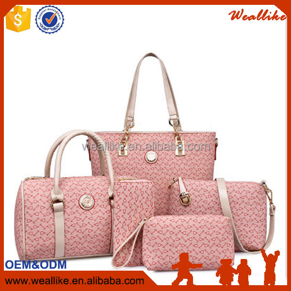 Ladies hand <strong>bags</strong> new European and American style fashion women handbags set (WS-005)