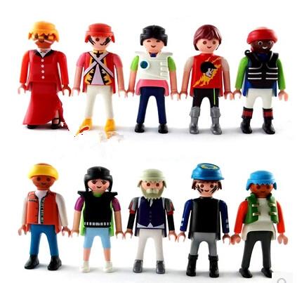 """30pcs/Lot playmobil PVC dolls for kids 2.8"""" (7cm) Free Shipping"""
