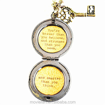 Womens Locket Friendship Jewelry The Winnie Pooh Quote Youre