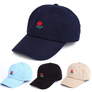 7fbea493d553a1 Hot Sell Embroidery Rose Dad Hat New Brand Design Unstructured 6 Panels  Soft Dad Hats Baseball
