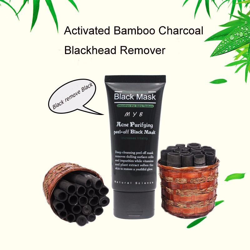OEM/ODM Activated Bamboo Charcoal Remove Blackhead Black Face Mask for Facial Deep Clean