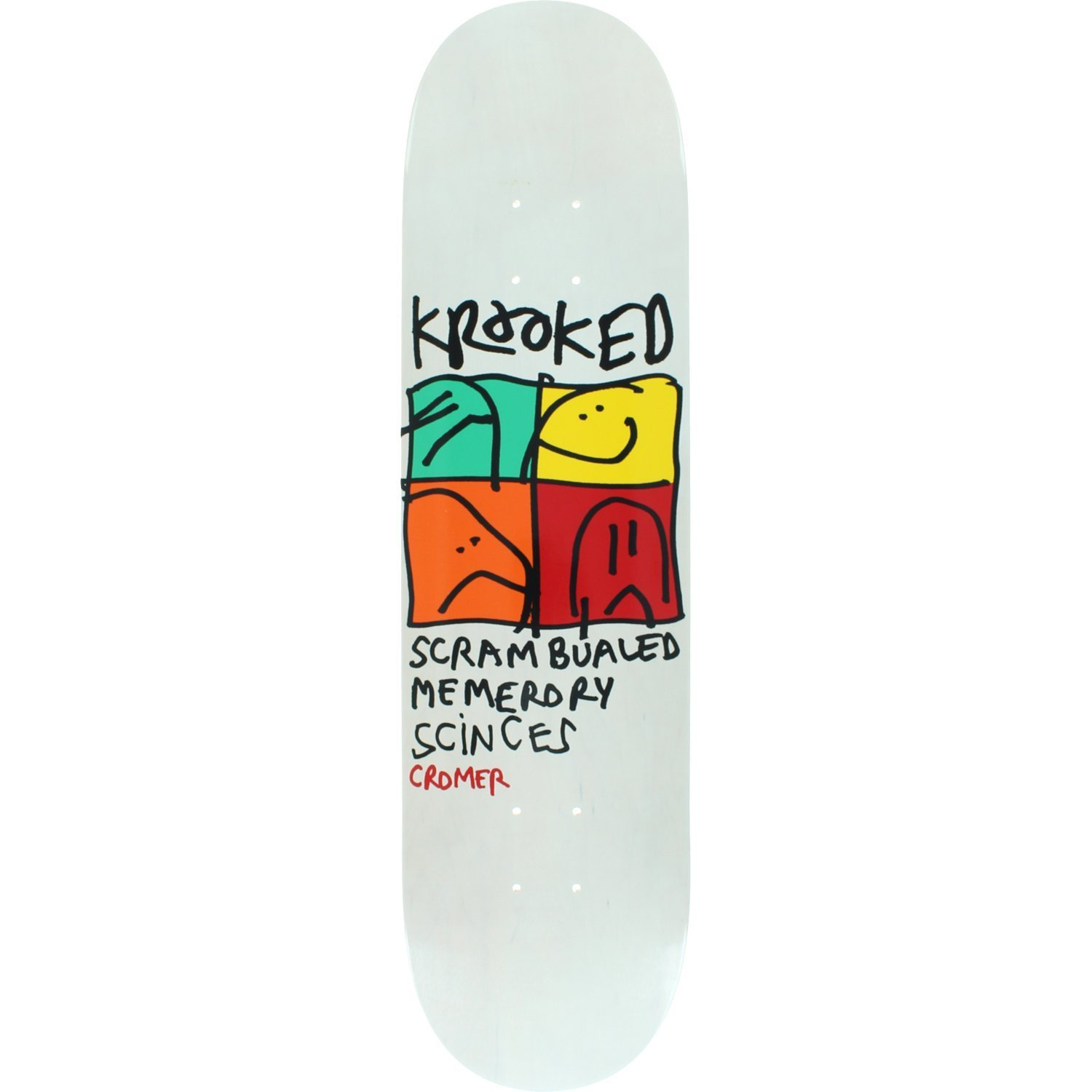 Krooked Brad Cromer Kd-Ultra Deck -8.06 Assembled as COMPLETE Skateboard